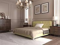 Кровать Тиффани в обивке с мягким изголовьем двуспальная