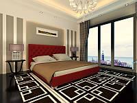 Кровать Классик в обивке с мягким изголовьем двуспальная
