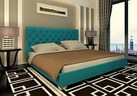 Кровать Классик в обивке с мягким изголовьем полуторная