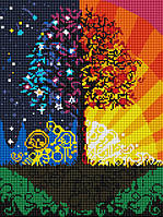 Картина из страз GZ Дерево счастья (на подрамнике) (EZ189) 30 х 40 см