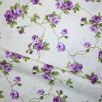 Ткань в стиле прованс salvio розы сиреневые испания