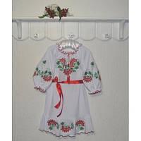 Платье вышиванка для девочки Гроздья калины