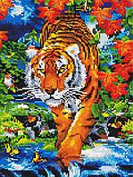 Алмазная вышивка GZ Крадущийся тигр (на подрамнике) (EZ303) 30 х 40 см