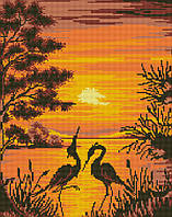Картина из страз GZ Журавли в лучах заката (на подрамнике) (GZ194) 40 х 50 см