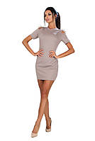 """Облегающее трикотажное мини-платье """"Альфа"""" с шипами и коротким рукавом"""