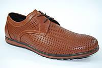 Кожаные классические мужские туфли. Коричневы