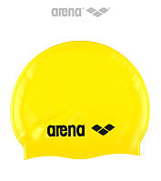 Детская (Junior) силиконовая шапочка для плавания Arena Classic Silicone JR (Yellow)