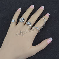 Кольца 5шт. серебро. набор из 5 колец