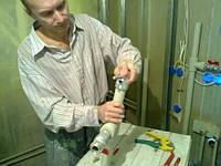 Монтаж полотенцесушителя. Киевская область