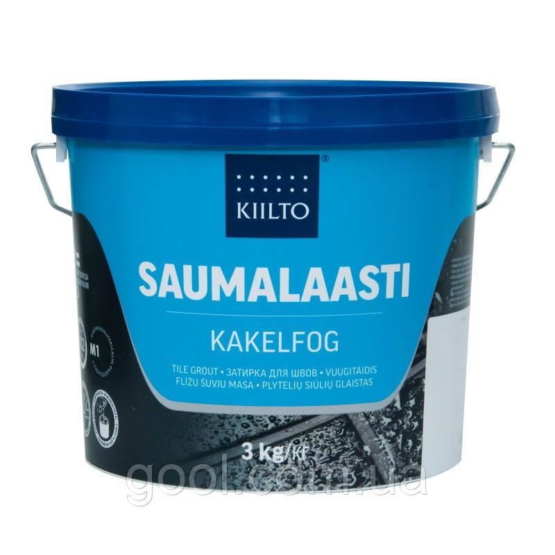 Затирка для швов плитки Kiilto Saumalaasti цвет белый № 10 ведро 3 кг.