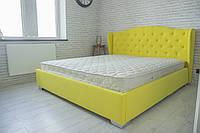 Кровать Рэтро с подъемным механизмом с мягким изголовьем двуспальная