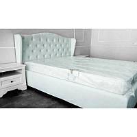 Кровать Рэтро в обивке с мягким изголовьем двуспальная