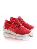 Красные кроссовки на шнуровке 15371
