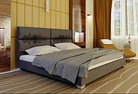 Кровать Манчестер с подъемным механизмом с мягким изголовьем двуспальная