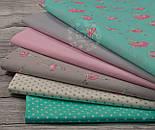 Отрез ткани Bora с балеринами в розовых платьях на мятном фоне  №884б, фото 3