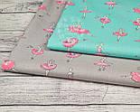 Отрез ткани Bora с балеринами в розовых платьях на мятном фоне  №884б, фото 2