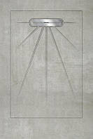 Керамический поддон для душа с сифоном Beton, 90х135см Aquanit