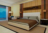 Кровать Аполлон с подъемным механизмом с мягким изголовьем полуторная