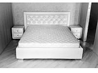 Кровать Аполлон в обивке с мягким изголовьем двуспальная