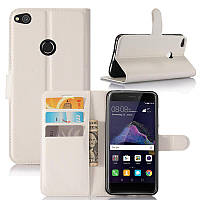 Чехол Huawei P8 Lite 2017 / P9 Lite 2017 / PRA-LX1 / Honor 8 Lite книжка PU-Кожа белый