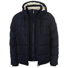 Куртка SoulCal Two Zip Bubble Jacket Mens
