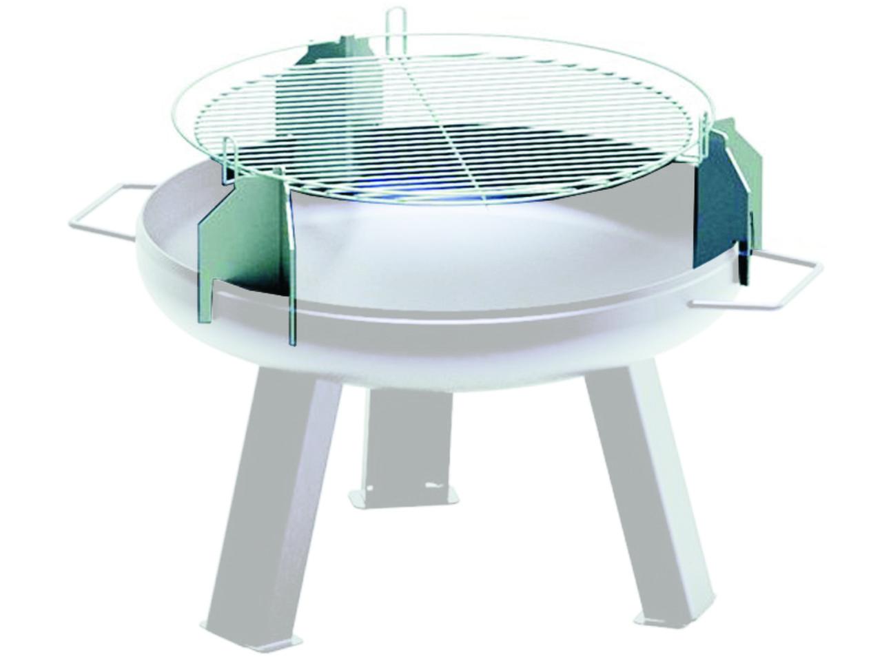Решетка-гриль из нержавеющей стали ø 500 мм на чашу для костра Huch ø 550 мм