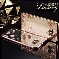 Чехол на Samsung J7 золото силиконовый