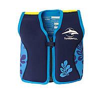 Плавательный жилет Konfidence Original Jacket, Цвет:Navy/Blue Palm KJ14-B, фото 1