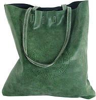 Вертикальная женская сумка зеленого цвета из кожзаменителя Traum 7240-16
