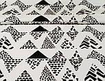 """Отрез ткани 55*160 хлопковая """"Черные треугольники с узором"""" № 886б, фото 2"""