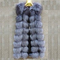 Женская меховая жилетка. Натуральный мех лисы. Модель 63124.