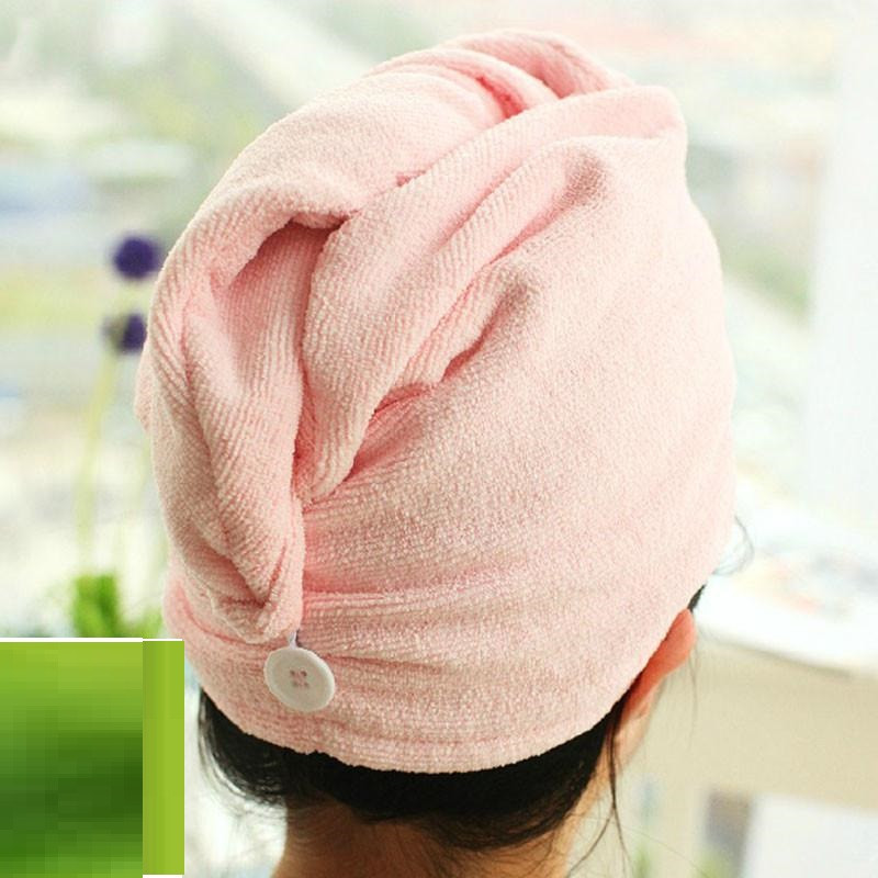 Полотенце-тюрбан для сушки волос из микрофибры Shower Cap