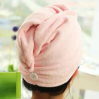 Полотенце-тюрбан для сушки волос из микрофибры Shower Cap , фото 1