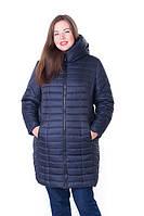 Женская стильная зимняя куртка Флави т.синий (54-64)