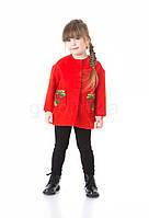 Пальто детское твидовое с накладными карманами JoJo