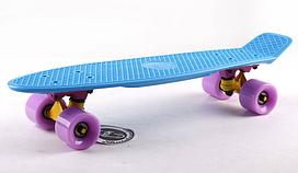 Penny Board FISH 22in (синий-желтый-фиолетовый )