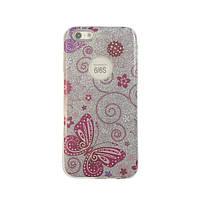 Чехол силиконовый Mask Collection Бабочка розовая маленькая для iPhone 6