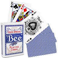 Карты игральные для покера Bee standard Blue (синие)