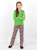 Детская хлопковая пижама для девочки  PG 020 рр. 134-158, ВОЛ (Cornett)