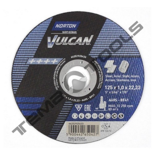 Круг отрезной по металлу Norton Vulcan 180x1,6x22