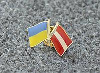 Значок Украина-Латвия