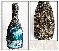 """Декор бутылки """"Подарок рыбаку"""". Рыбацкие сувениры Ручная работа"""