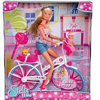 Кукла Steffi Штеффи на велосипеде 5739050 SIMBA Оригинал