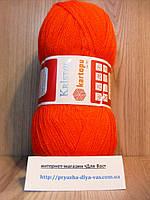 Акриловая пряжа(100%-акрил, 100г/450(900)м) Kartopu kristal 210(оранжевый)