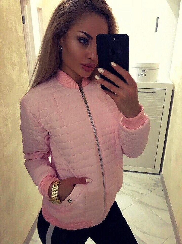 Короткая женская стеганая куртка
