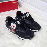 Женские кроссовки черные NEW B.
