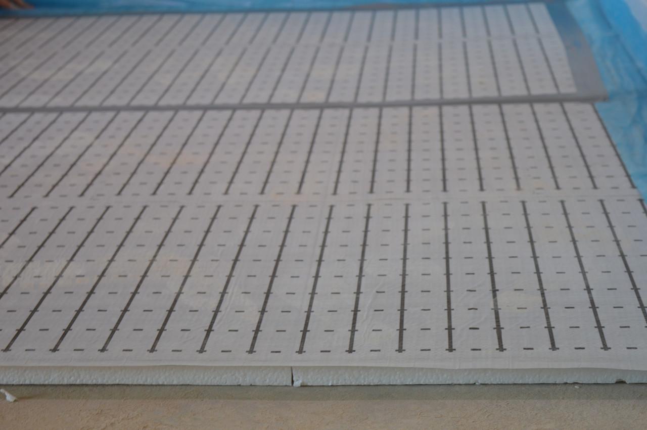 Мати для теплої водяної підлоги 50 мм пінополістирольні