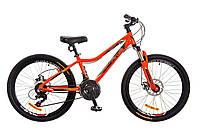 """Горный подростковый велосипед 24"""" Optimabikes BLACKWOOD DD 2017 (оранжевый)"""
