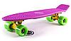 Penny Board FISH 22in (фиолетовый-желтый-зеленый)