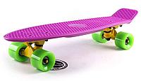 Penny Board FISH 22in (фиолетовый-желтый-зеленый), фото 1